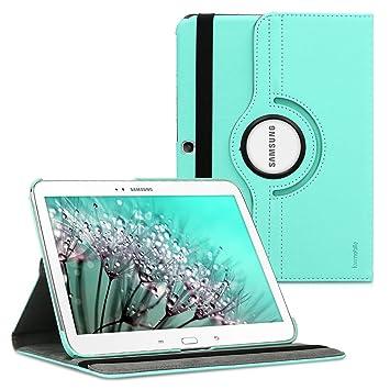 kwmobile Funda compatible con Samsung Galaxy Tab 3 10.1 P5200/P5210 - Carcasa de cuero sintético para tablet en menta