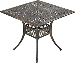 Patio Dining Table Outdoor Dining Table Wrought Iron Patio Furniture Outdoor Table Patio Table Patio Furniture Weather Resistant