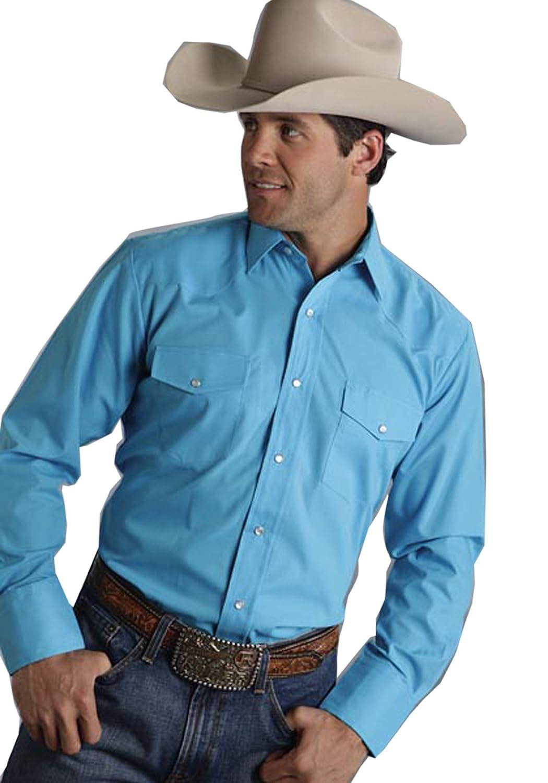 Roper Mens Broadcloth Solid Western Shirt