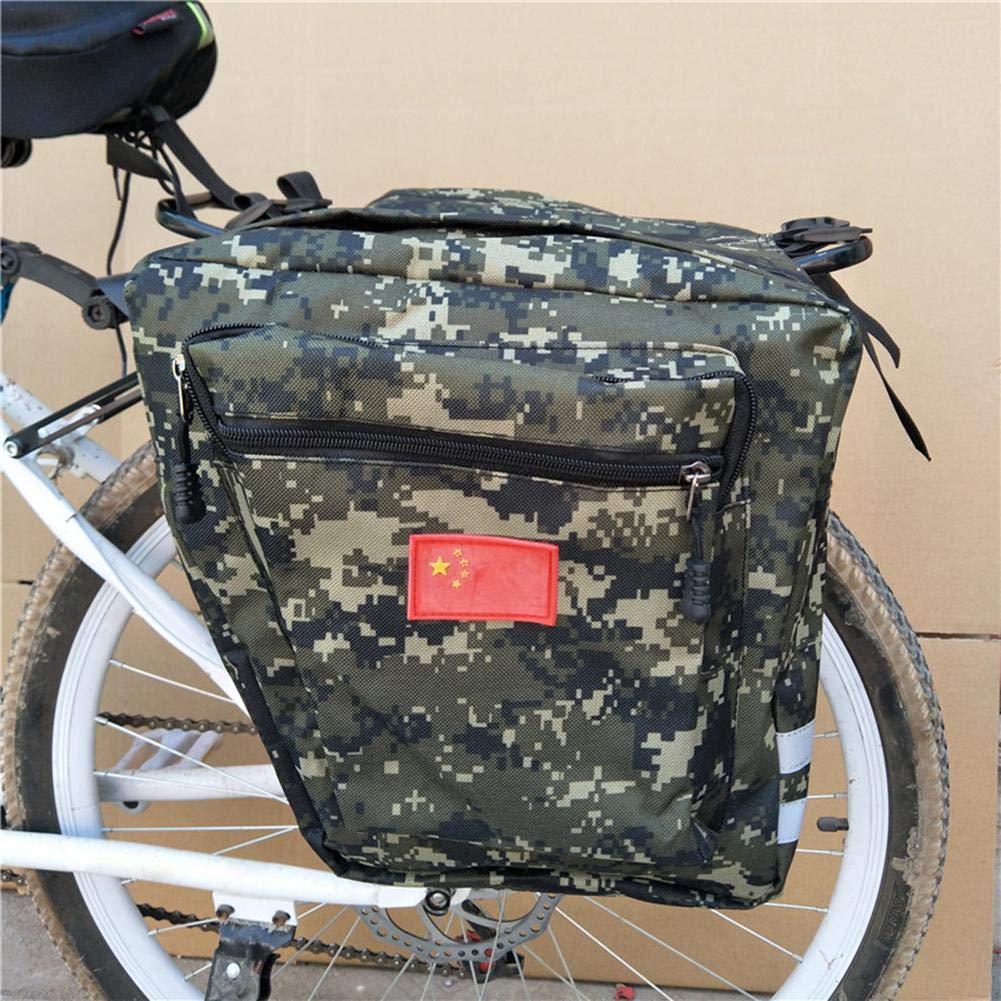 Amazon.com: Yunhigh Large Bike Bag Camo Saddle Pannier Rear ...