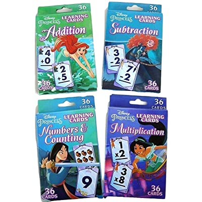Bendon Publishing Princess Learning Flash Card Set - Multiplication, Subtraction, Addition, Numbers & Counting: Toys & Games