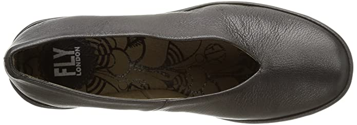 Fly London Yaz, Damen Ballerinas, Grau (borgogna Graphite