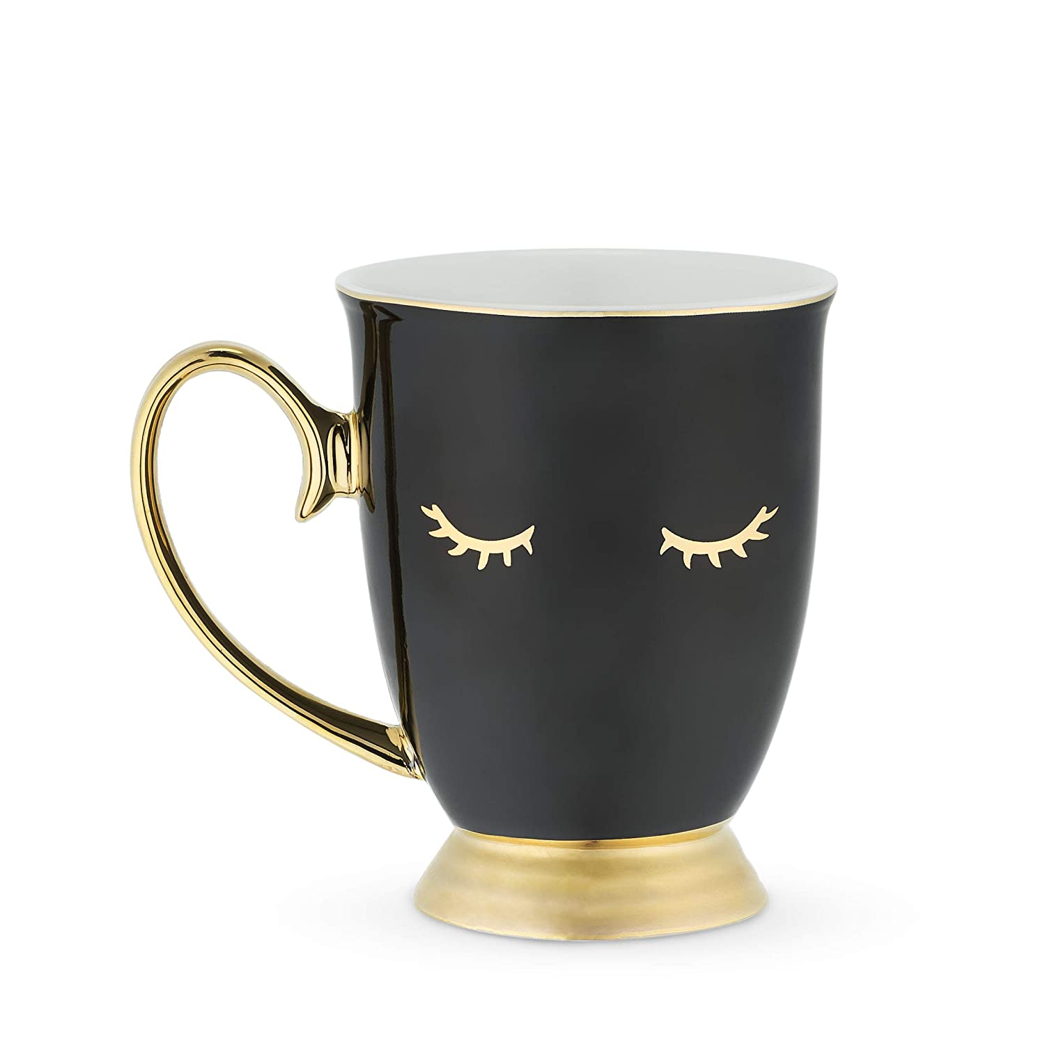 One Size, Mugs and Saucers Pinky Up 6114 Holly White Eyelash Up Cups