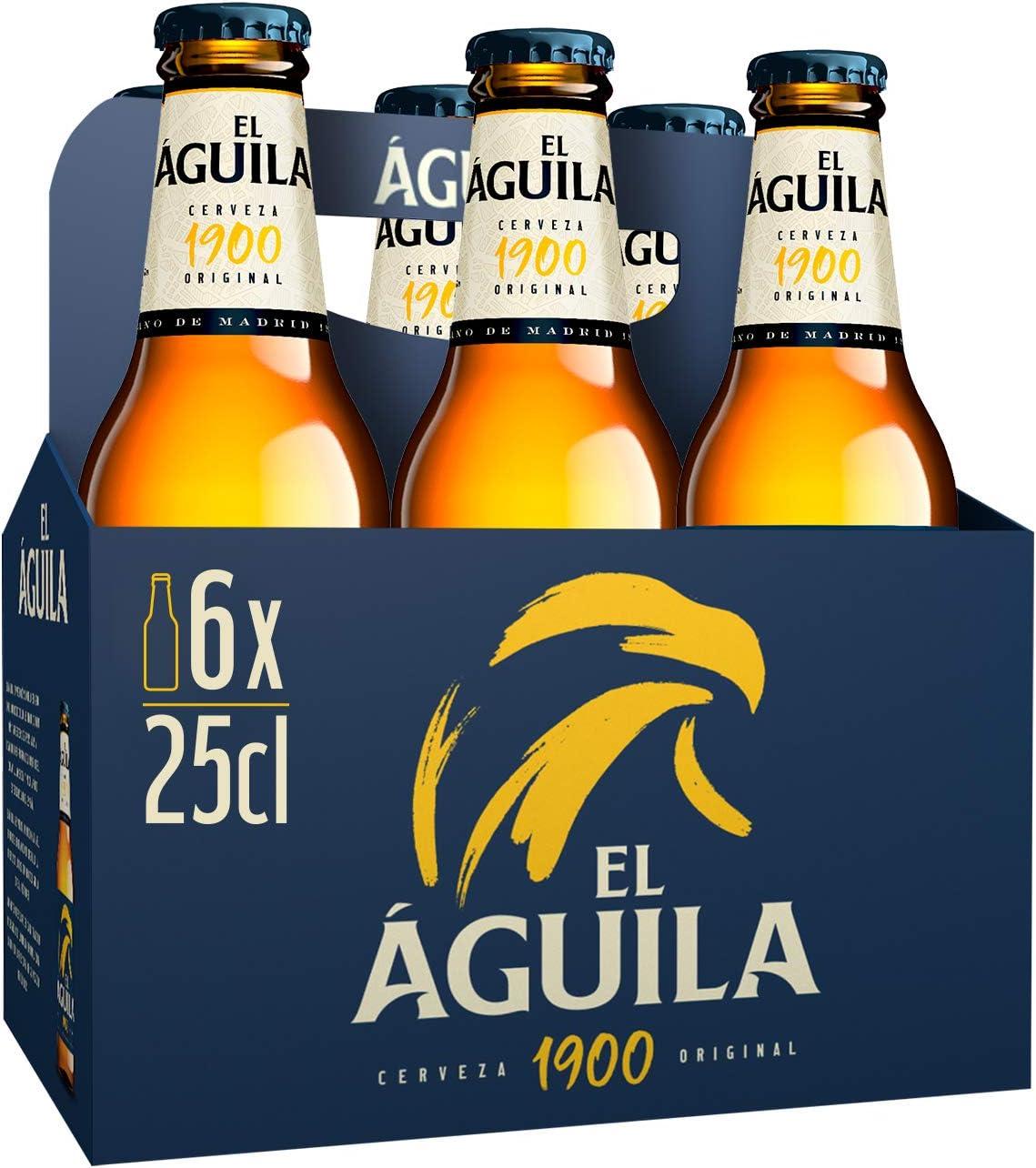 El Aguila Cerveza Especial - Paquete de 6 x 250 ml (Total: 1500 ml ...