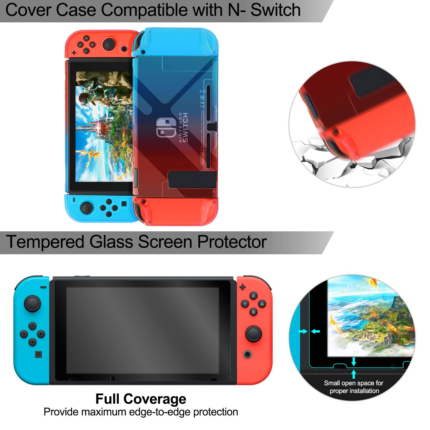Amazon.com: Accessories Kit Bundle for Nintendo Switch ...