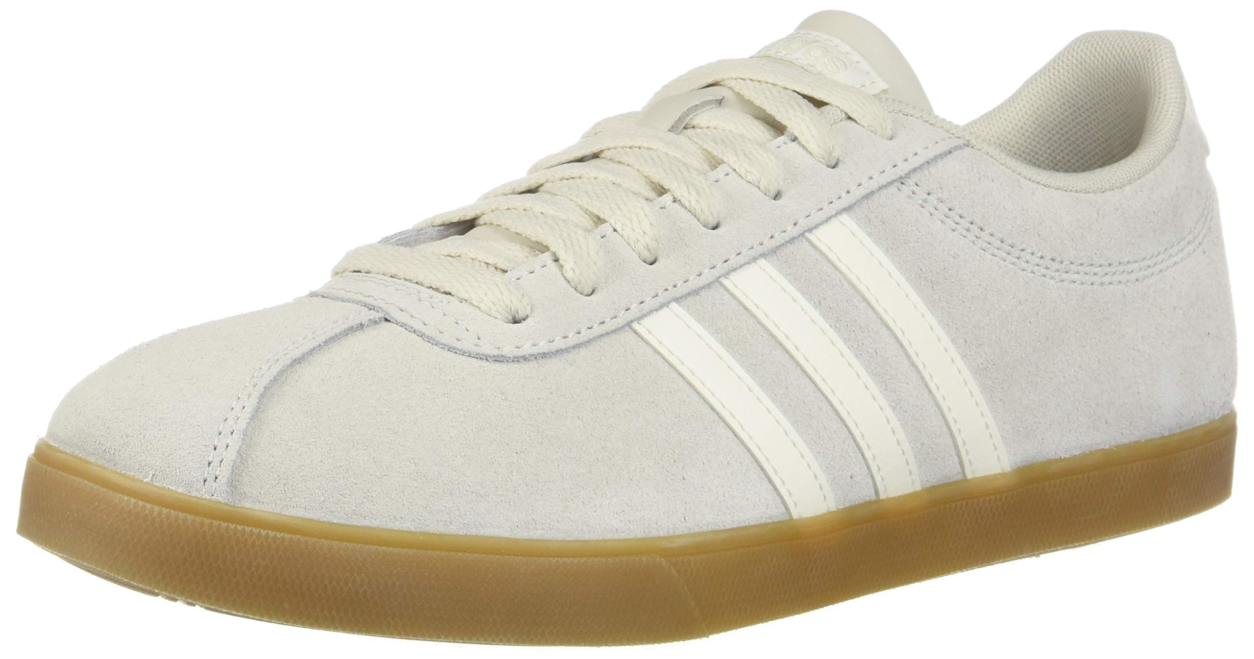adidas Women's Courtset, raw Cloud White/Gum, 9.5 M US