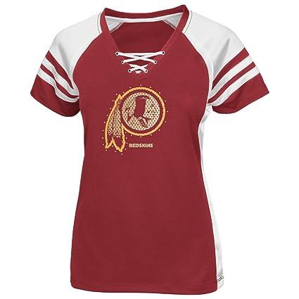 wholesale dealer 08c55 787ec Majestic Washington Redskins Red Draft Me VII Womens Jersey Top