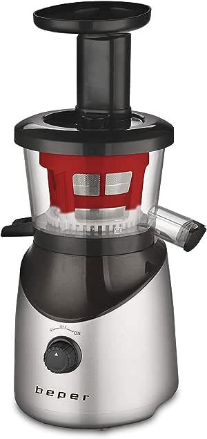 Beper 90.421R Extractor de zumo, 150 W, Rojo, negro y plateado ...