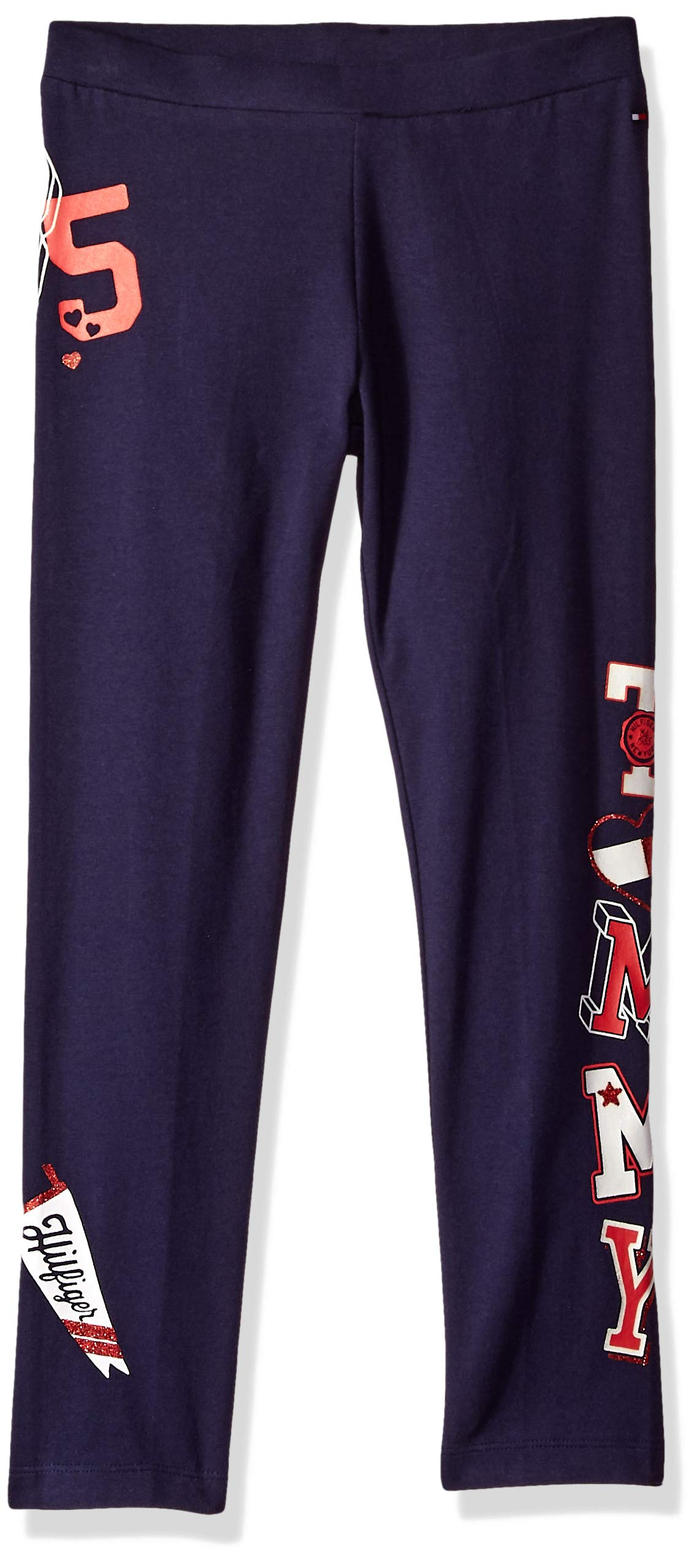 Tommy Hilfiger Girls' Adaptive Leggings with Elastic Waist, evening blue X-Small by Tommy Hilfiger (Image #1)