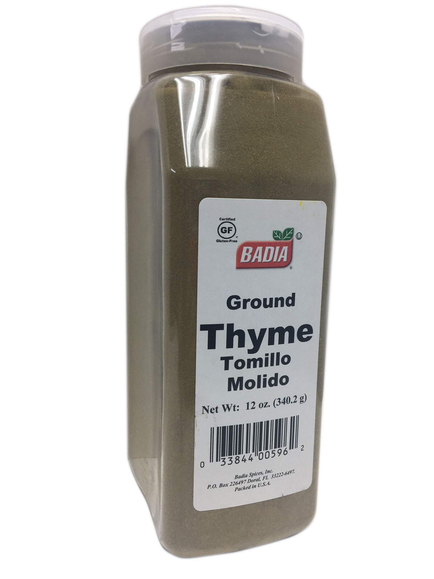 12 oz Bottle-Ground Thyme Leaves Powder/Tomillo Molido en Polvo Kosher