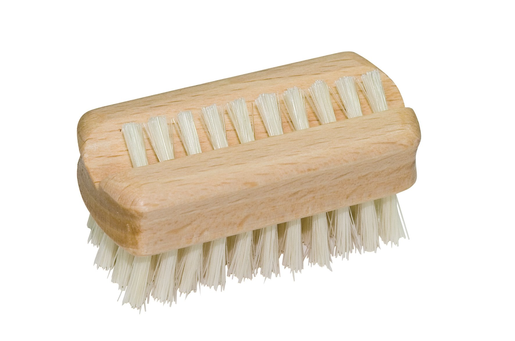 Redecker Natural Pig Bristle Travel Nail Brush with Oiled Beechwood Handle, 2-1/4-Inches