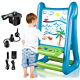CIRO Double-Sided Inflatable Easel, Outdoor/Indoor Toys for Kids Ages 4-8, with Inflator and Paint for Young Artists, Gifts f