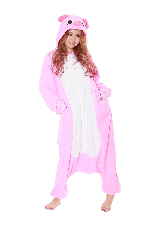 fda42b1181d2 Amazon.com  Pig Kigurumi - Adult Costume  Clothing