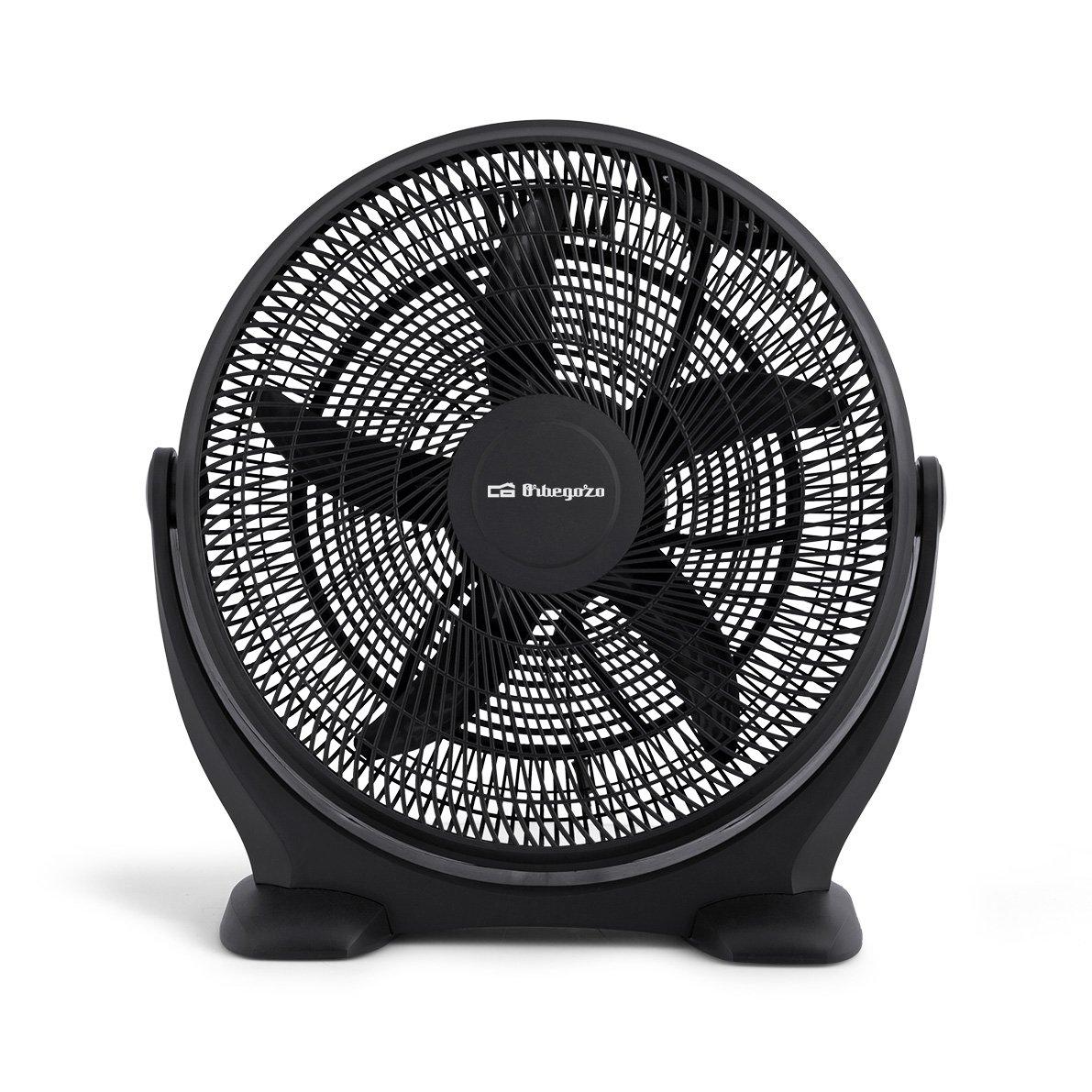 Orbegozo BF 0150 - Ventilador de suelo estilo industrial, 3 velocidades de ventilación, inclinación regulable, 50 cm de diámetro y potencia de 80 W: ...