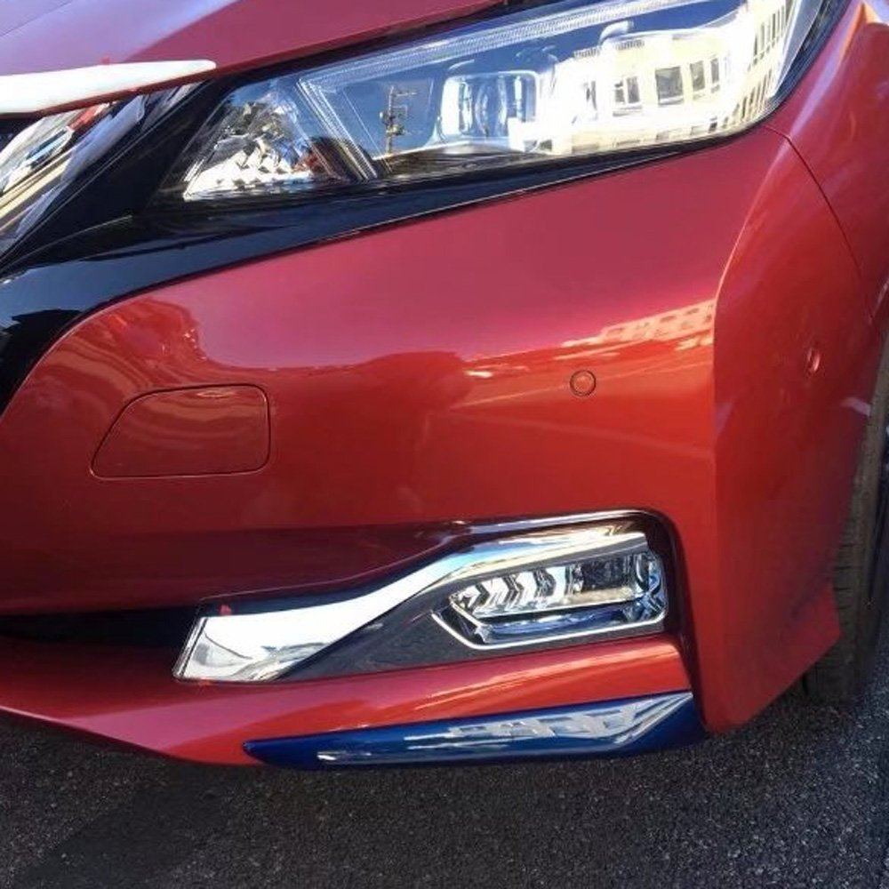 Kadore Car Styling Front Fog Light Lamp Molding Cover Trim Bezels For Nissan Leaf 2017 2018 2019 ABS Chrome 2PCS/SET