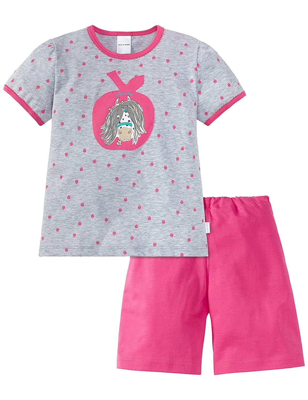 Schiesser Pony Mädchen Schlafanzug Kurz, Pyjamas Deux-Pièces Fille