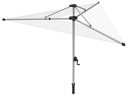 46b4ed8fc563 Extra Large 3 Arm 60 Metre Rotary Washing Line with Hoist plus FREE Cover