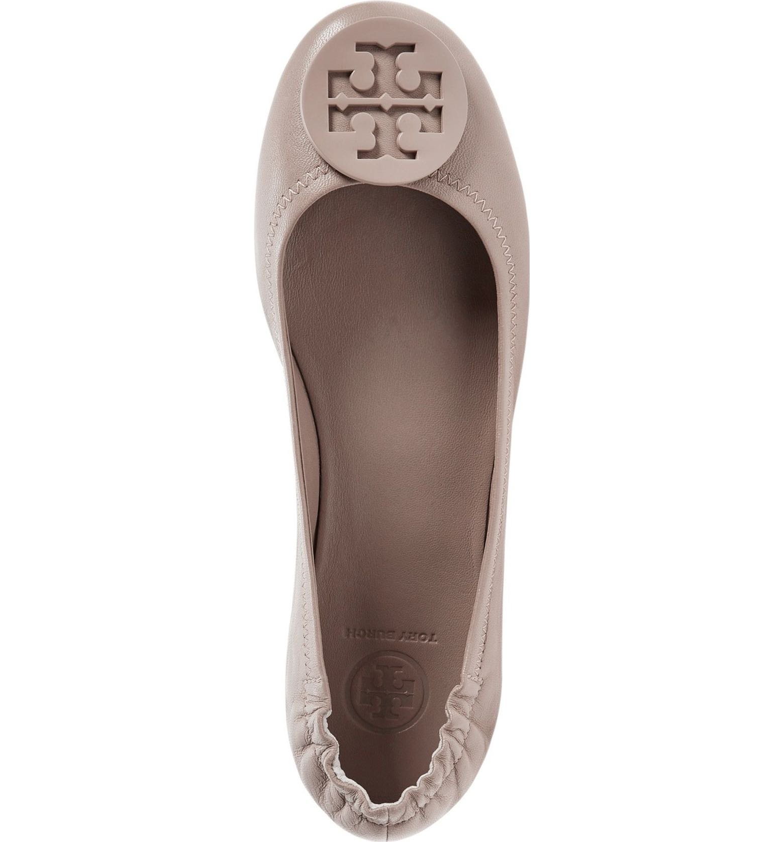 Tory Burch Minnie Travel Ballet Flat, French Gray (7) by Tory Burch