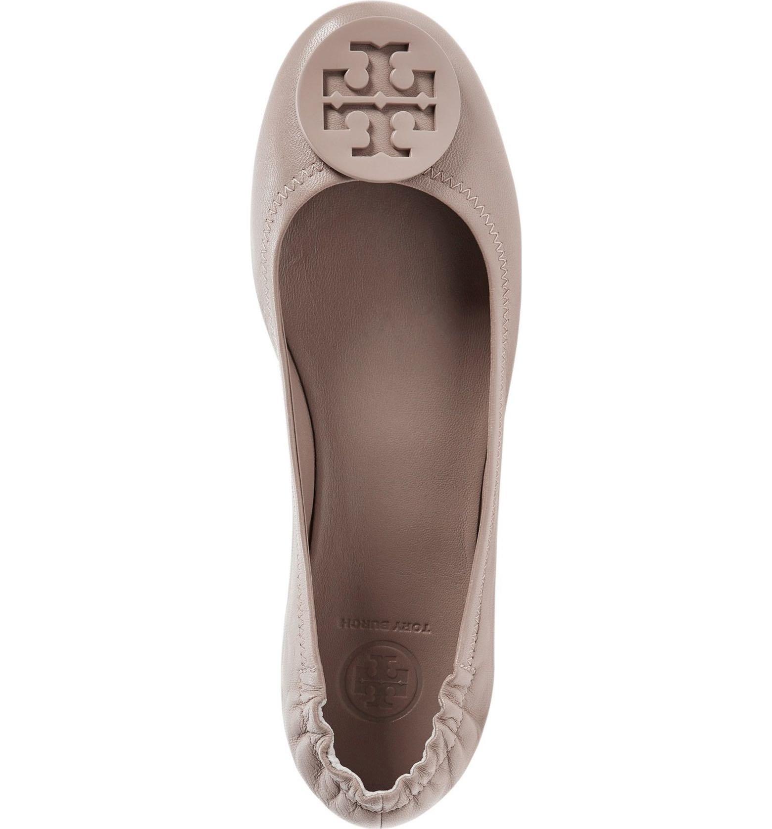 Tory Burch Minnie Travel Ballet Flat, French Gray (7)