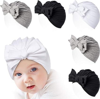 Cute Baby Boy Girl Bow Turban Hat Toddler Kids Head Wrap Hijab Headband Cap 3-8Y