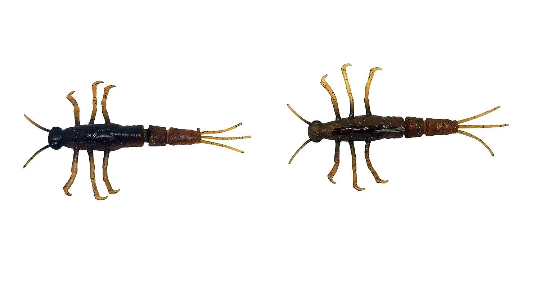 Savage Gear 3D TPE Mayfly Nymph, Black, 2-Inch MN-50-B