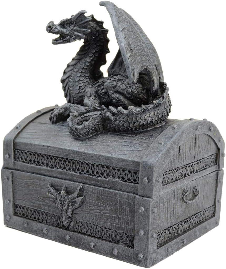 Piquaboo Bo/îte /à Bijoux Style Gothique avec Dragon sur Le Couvercle 15 cm
