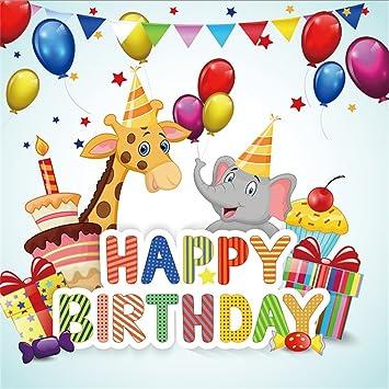 Amazon Com Ofila Happy Birthday Backdrop 5x5ft Photography