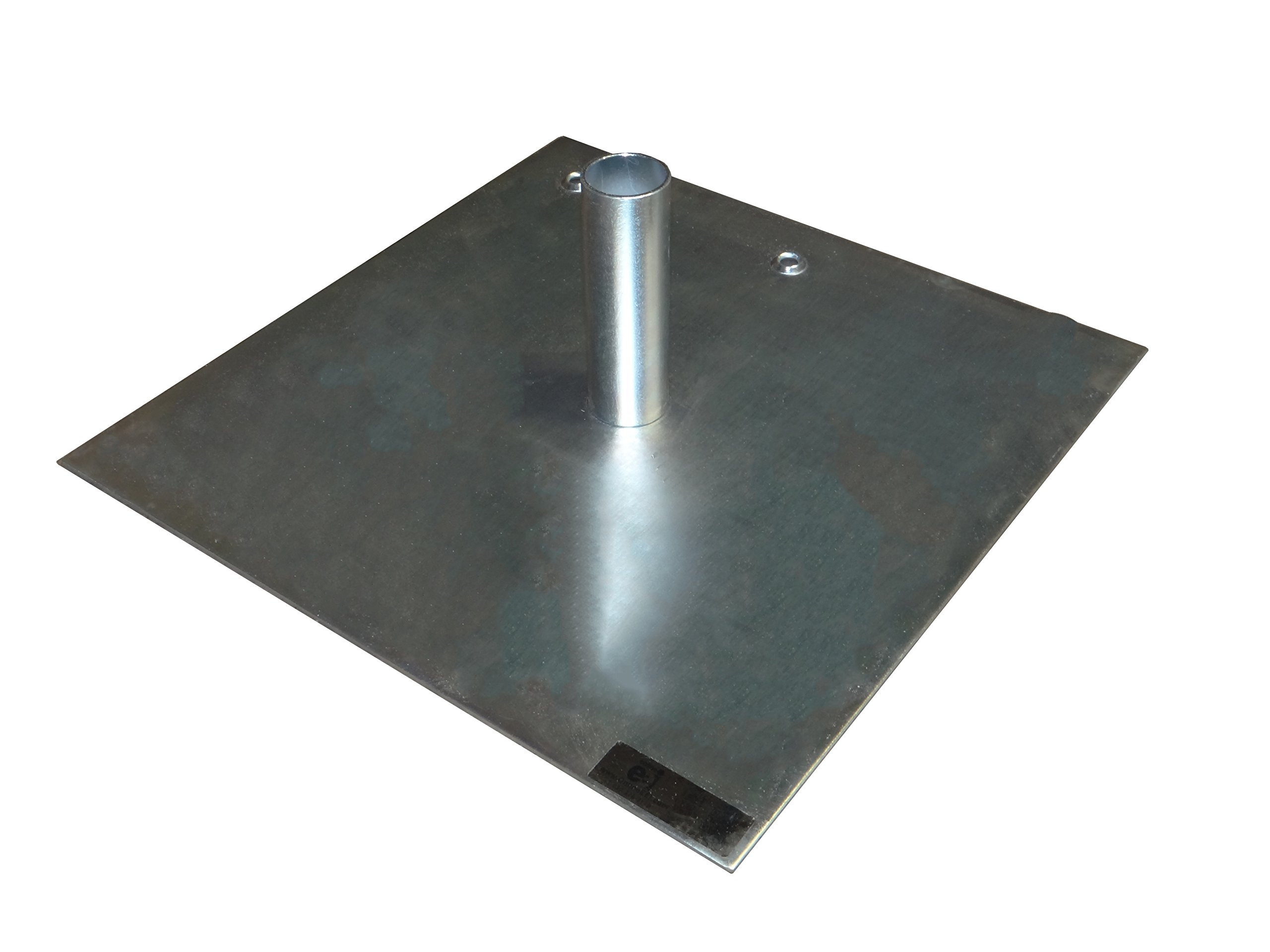 OnlineEEI Base Plate, Zinc Coated Steel, for use with Pipe and Drape System, 18''x18''3/16'', 17lb by OnlineEEI
