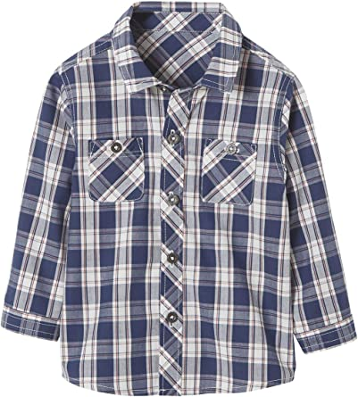VERTBAUDET Camisa a Cuadros Tricolor para bebé niño Azul ...