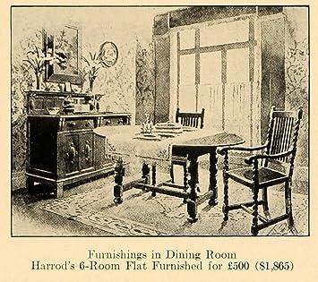 1920 Ad Harrods Dining Room Furniture London Maker Fine