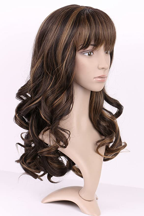 S-noilite 17\'(43CM) Long Full Wigs Curly