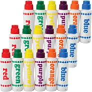 Constructive Playthings Do-A-Dot Rainbow Marker Classroom Set, 18 Pieces, Multi-Color