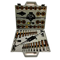 HHIP 1011-0003 45 Piece Tap & Die Set 1/4-1 Inch - Tin Coated
