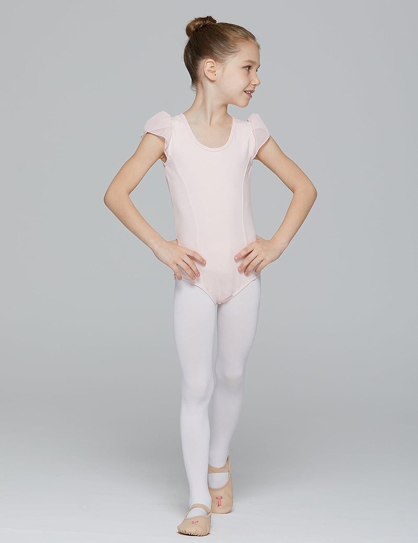 059d76547 Amazon.com  MdnMd Girls  Petal Cap Sleeve Leotard  Clothing