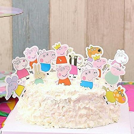 24pc Peppa Pig Cupcake Toppers, fiesta de cumpleaños ...