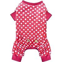 Pijama Kyeese para perro, de material suave, elástico, para perros pequeños y medianos, de terciopelo suave