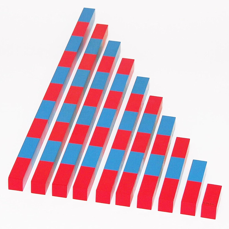 愛用 【MONTE Kids モンテキッズ】モンテッソーリ教具 -- 算数棒 大 教材用サイズ -- 大 Montessori Montessori 知育玩具教具 幼児早期教育 モンテキッズ 本格教材 算数 おもちゃ -- 算数棒 大 B06XXC58L7, ホビナビ:16da81e4 --- vezam.lt