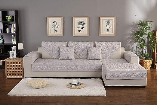 Amazon.com: White 3D Stone Pattern Sofa Cover Towel ...