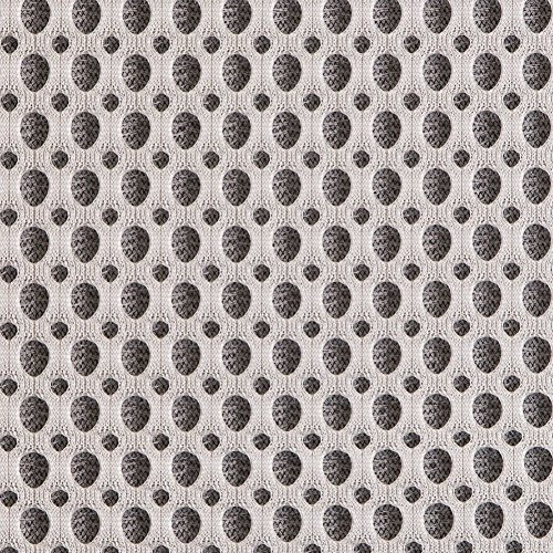Italian White/Black Dimensional Spacer - Mesh Material Black