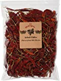 Arbol Chile Whole Dried Arbol Chile - 8 oz Resealable Bag - El Molcajete Brand for Mexican Recipes, Tamales, Salsa, Chili, Meats, Soups, Stews & BBQ