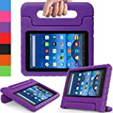 AVAWO Kids Case for Fire 7 2017 - Light Weight Shock Proof Handle Kid-Proof Case for Fire 7 inch Display Tablet (7th Generation - 2017 release), Purple