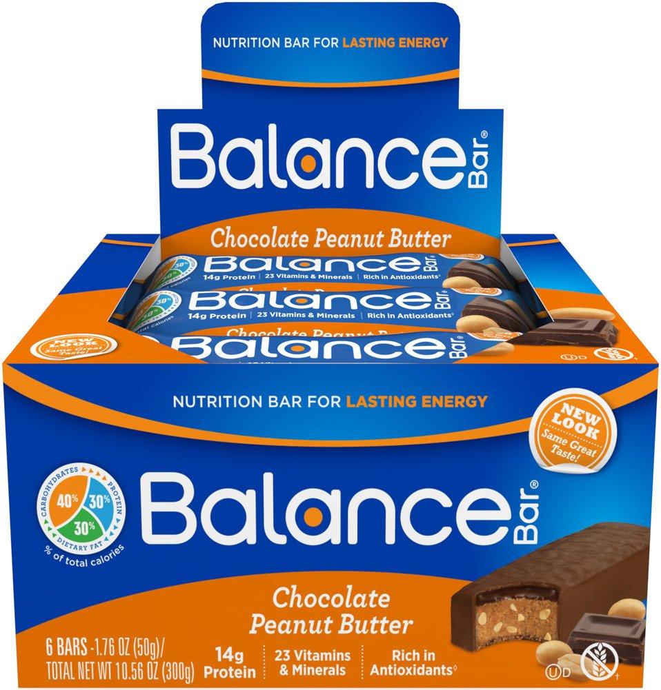 Balance Bar Chocolate Peanut Butter Balance Bar-6 per Box