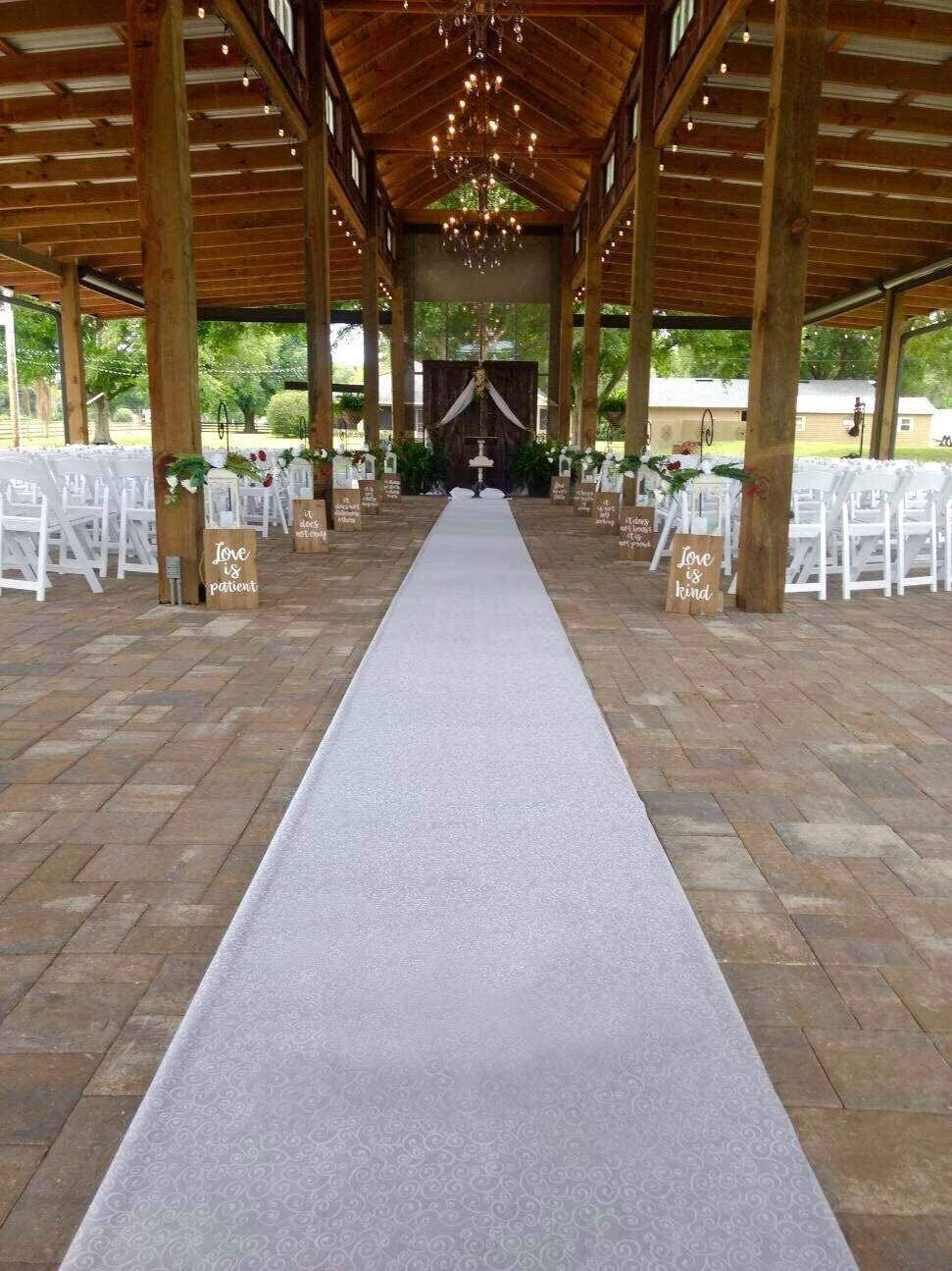 24inx33ft Wedding Aisle Runner Wedding Rugs Essential Indoor and Outdoor Wedding Decoration Dream Wedding Decor