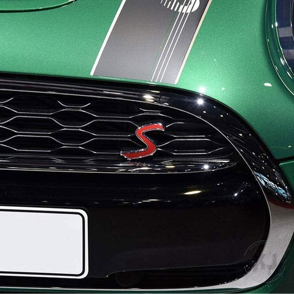 XYWD Insigne dembl/ème calandre Avant Capot Voiture Autocollant moul/é Pression en m/étal chrom/é 3D d/écalcomanie d/écoration Logo pour Mini Cooper S