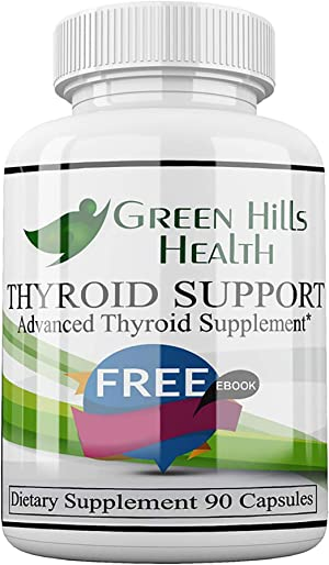 Thyroid Support Supplement Improve Thryoid Output, Energy and Focus, Vegan Friendly. High Potency Vitamins, Minerals and Herbs to Boost underactive Thyroid. Best Thyroid Support Complex