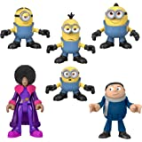 ​Minions: The Rise of Gru Fisher-Price Imaginext Figure Pack, set of 6 film character figures for preschool kids ages 3-8 yea