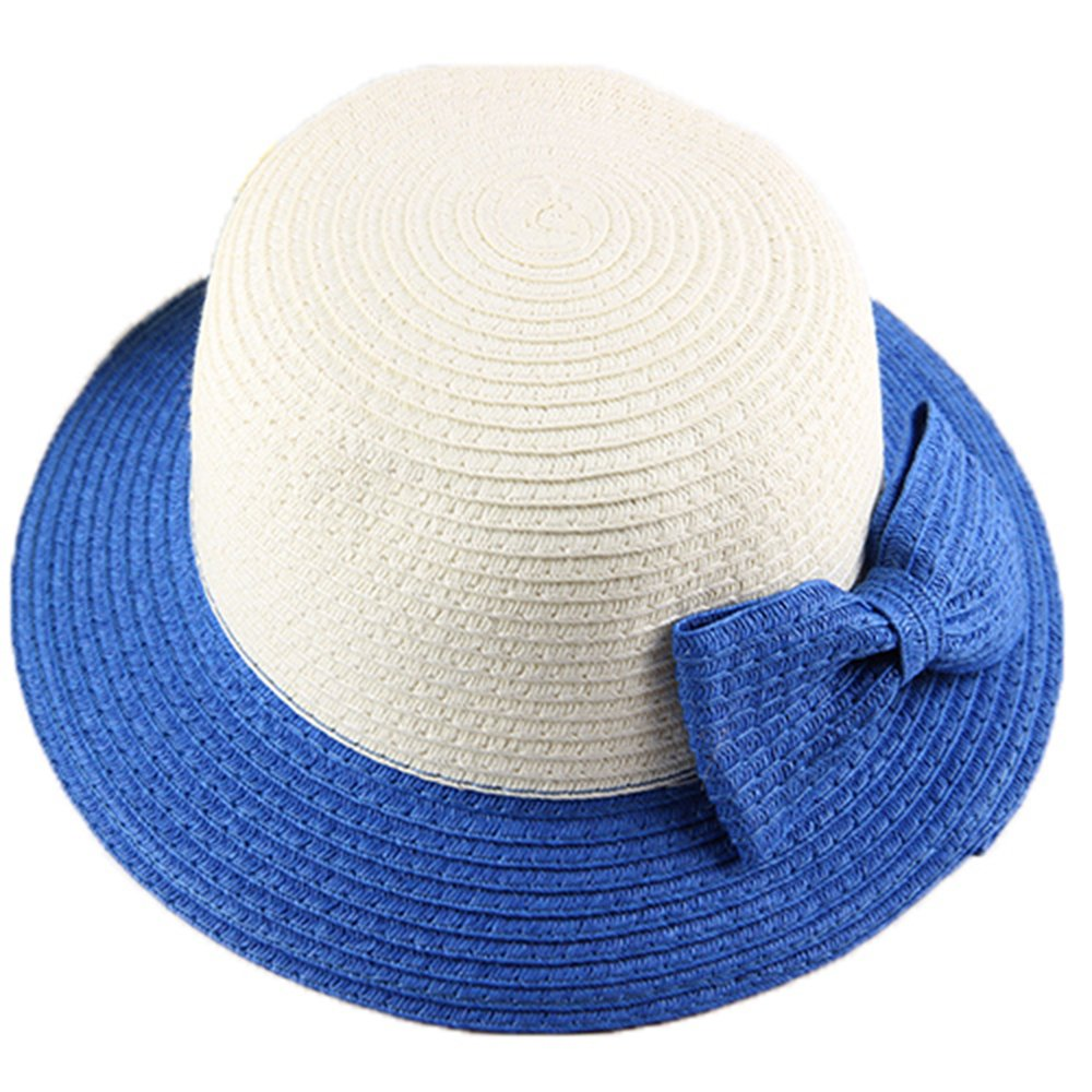Hey Girl Brim Beach Sun Toddler Travel Hat Summer Sunproof Cap Cute Princess Bow Straw Hat For Girls