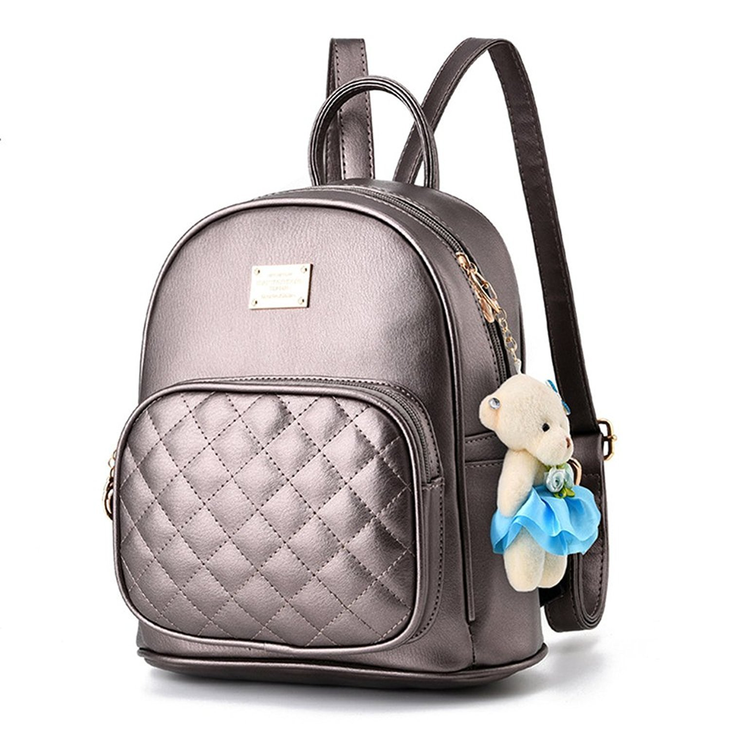 Women Cute Leather Laides Shopping Casual Backpack Travle Backpack for Girls LJYXYYB412540-black?