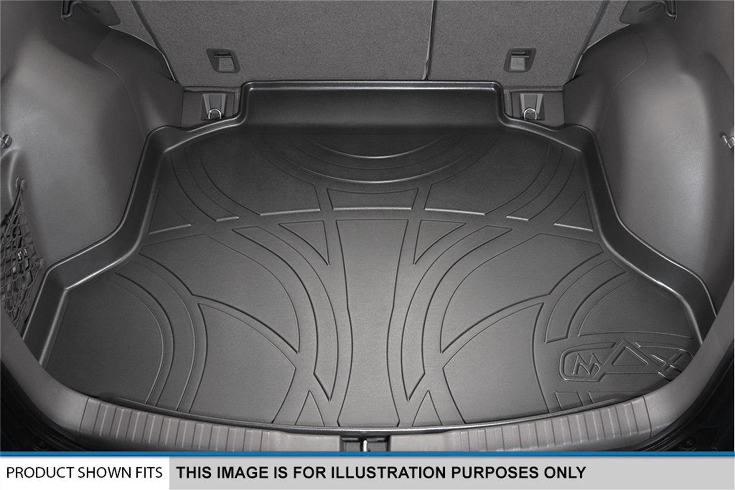 MAX LINER D0191 All Weather Cargo Trunk Liner Floor Mat Behind 2nd Row Black for 2016-2019 Kia Sorento 7-Passenger Model Only