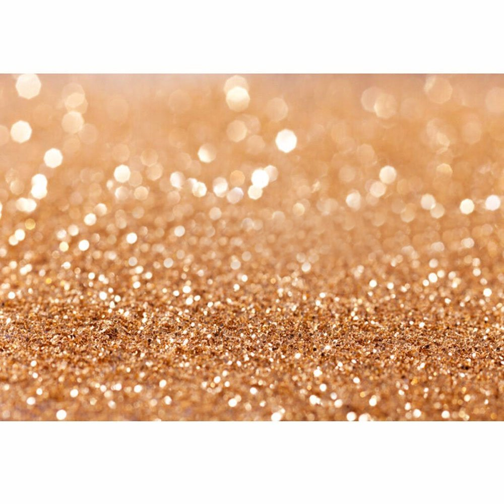 Careonline 5x7ft Vinyl Gold Sequin Bokeh Glitter Photo Backdrop, Wedding Photo Booth Props, Photography Background, Birthday Party Ceremony Background, Studio Props Backdrop